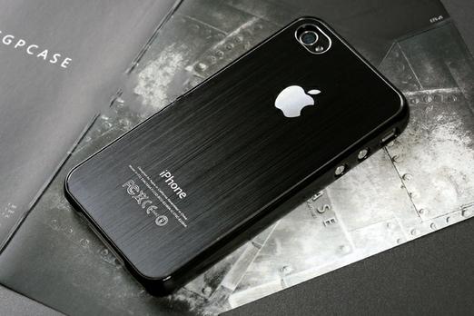Чехол Aluminium Black для iPhone 4/4S