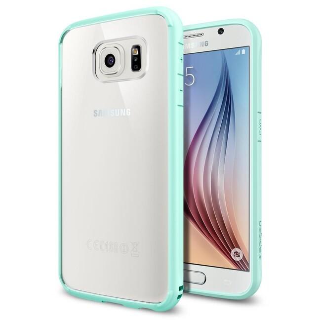 Чехол Spigen Ultra Hybrid Mint для Samsung Galaxy S6