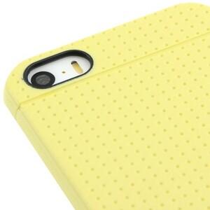 Купить Ультратонкий желтый TPU чехол Dots Pattern для iPhone 5/5S/SE