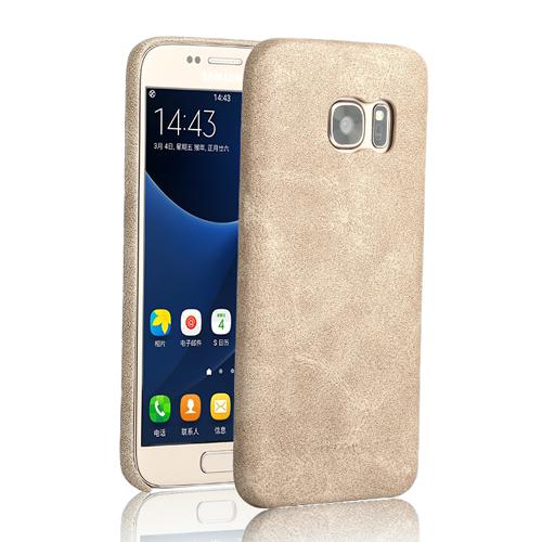Ультратонкий кожаный чехол USAMS Bob Series Beige для Samsung Galaxy S7