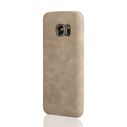 Ультратонкий кожаный чехол USAMS Bob Series Beige для Samsung Galaxy S7 edge