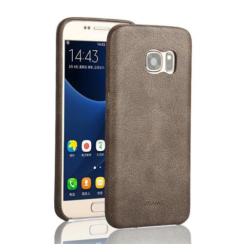 Ультратонкий кожаный чехол USAMS Bob Series Coffee для Samsung Galaxy S7