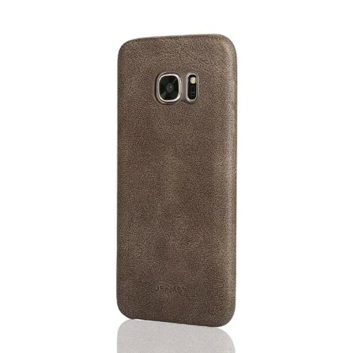 Ультратонкий кожаный чехол USAMS Bob Series Coffee для Samsung Galaxy S7 edge