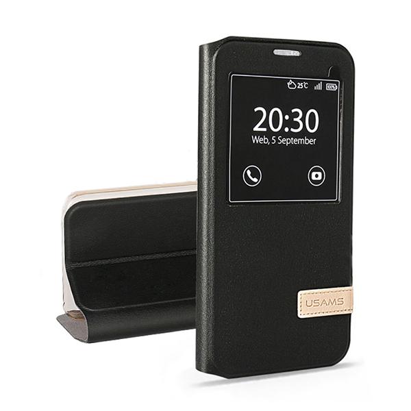 Чехол-подставка USAMS Muge Series Black для Samsung Galaxy S7