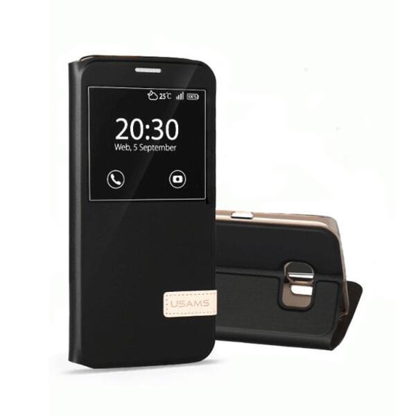 Чехол-подставка USAMS Muge Series Black для Samsung Galaxy S7 edge