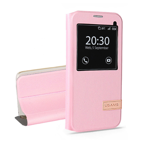 Чехол-подставка USAMS Muge Series Pink для Samsung Galaxy S7