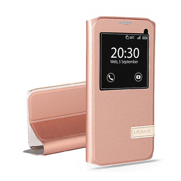Чехол-подставка USAMS Muge Series Rose Gold для Samsung Galaxy S7