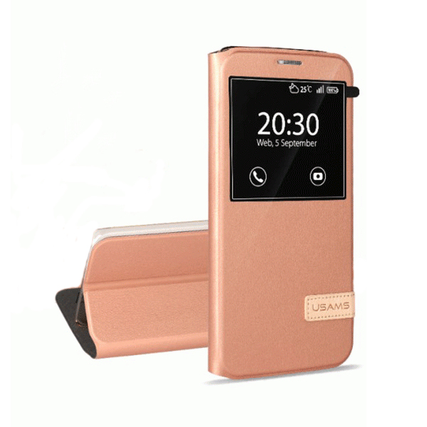Чехол-подставка USAMS Muge Series Rose Gold для Samsung Galaxy S7 edge