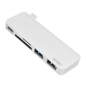 Купить Хаб WIWU T6 USB-C to USB-C Gray