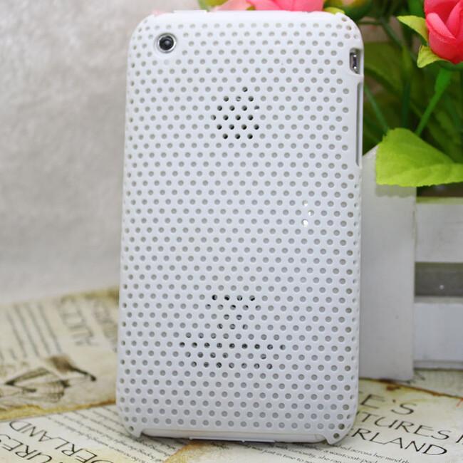 Пластиковый белый чехол Grid для iPhone 3G/3GS