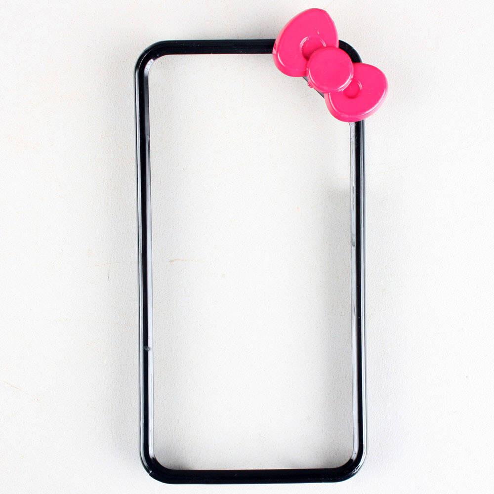 Чехол с бантиком Fashion Bowknot Black для iPhone 5/5S/SE