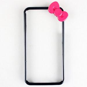 Купить Чехол с бантиком Fashion Bowknot Black для iPhone 5/5S/SE