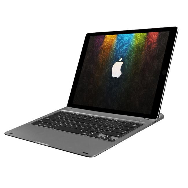 "Алюминиевая клавиатура AddKee Backlit Gray для iPad Pro 12.9"""