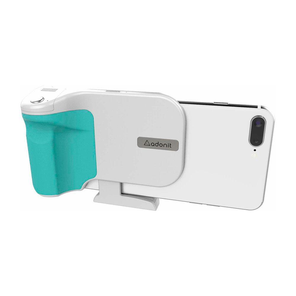 Купить Фотодержатель с беспроводной зарядкой Adonit PhotoGrip Qi White для iPhone   Android