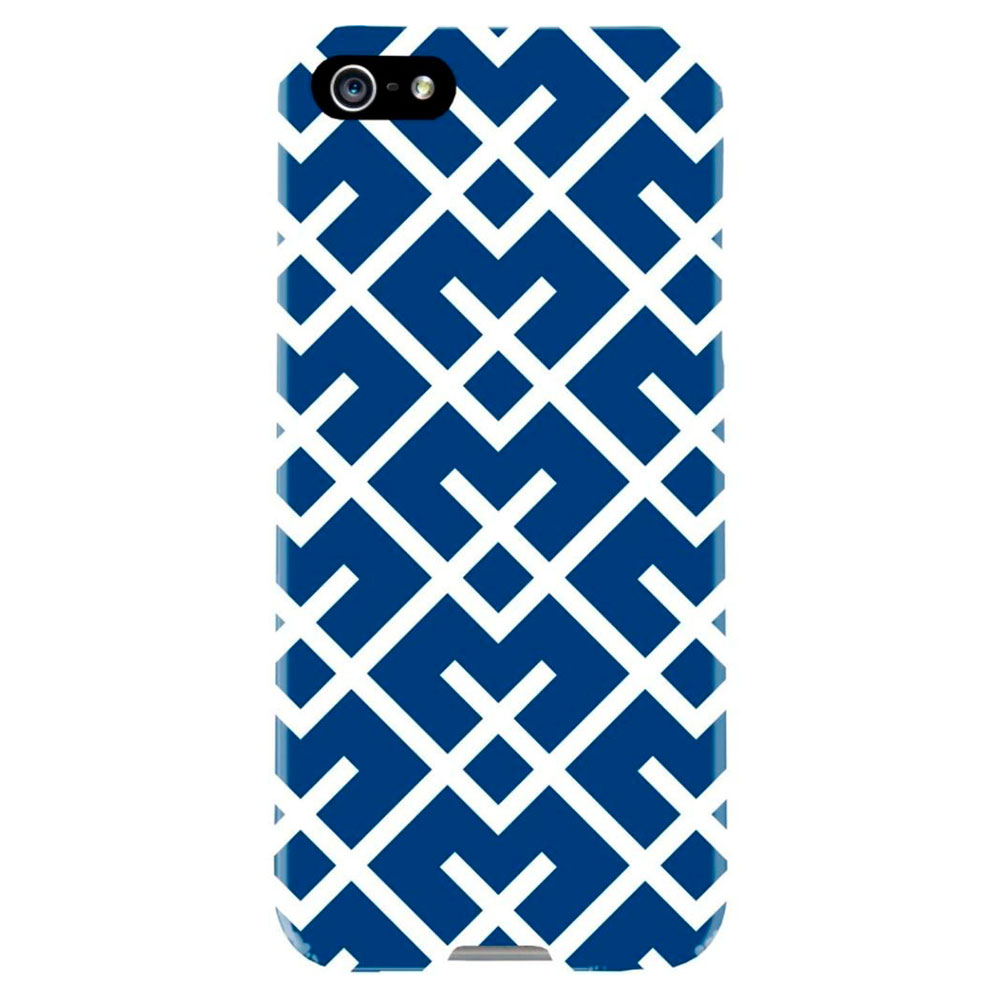 Купить Чехол Agent18 SlimShield Limited Geometric Navy | White для iPhone 5 | 5S | SE