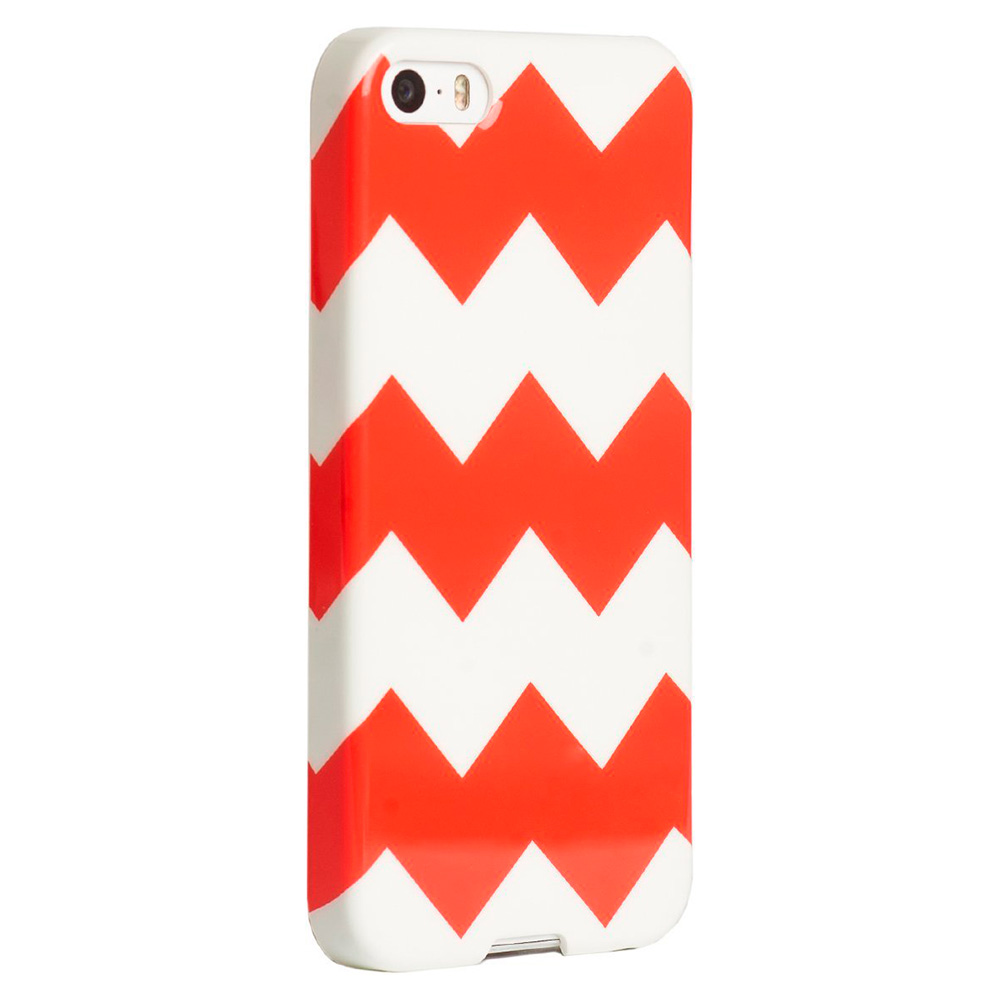 Купить Чехол Agent18 SlimShield Limited Chevron Coral для iPhone 5   5S   SE