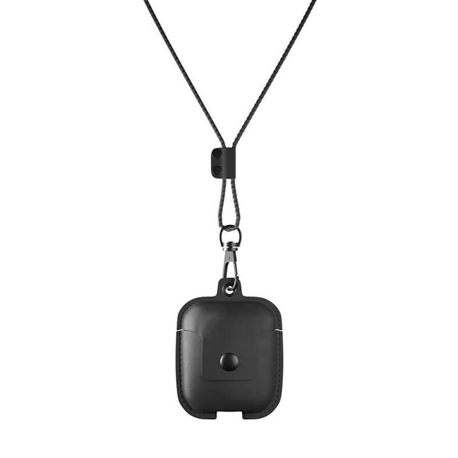 Кожаный чехол Woodcessories Aircase Black для AirPods 2   1