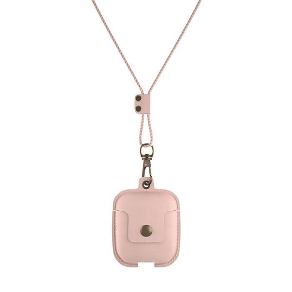 Кожаный чехол Woodcessories Aircase Pink для AirPods 2 | 1