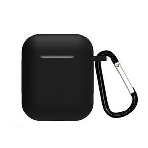 Купить Силиконовый чехол с карабином oneLounge TPU Case Black для AirPods 2 | 1