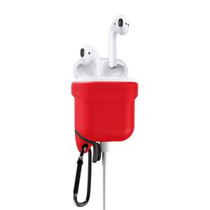 Купить Красный силиконовый чехол для наушников Apple AirPods