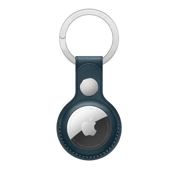 Кожаный брелок с кольцом Apple Leather Key Ring Baltic Blue (MHJ23) для AirTag