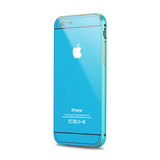 Алюминиевый чехол Dual Hybrid 0.5mm Blue для iPhone 6/6s