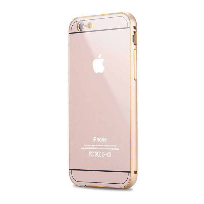 Алюминиевый чехол Dual Hybrid 0.5mm Gold для iPhone 6 Plus/6s Plus