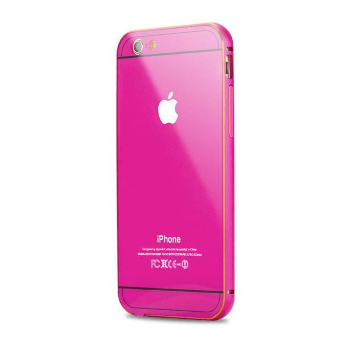 Алюминиевый чехол Dual Hybrid 0.5mm Rose для iPhone 6/6s