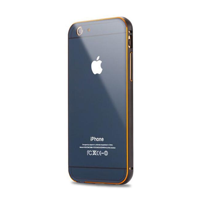 Алюминиевый чехол Dual Hybrid 0.5mm Navy Blue для iPhone 6/6s Plus
