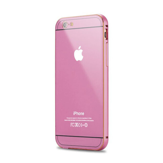 Алюминиевый чехол Dual Hybrid 0.5mm Pink для iPhone 6/6s Plus