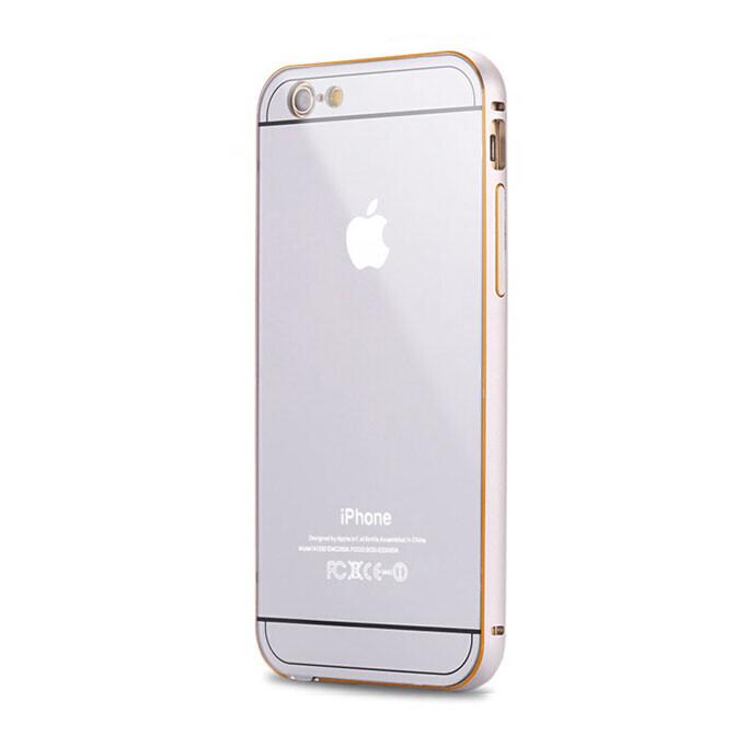 Алюминиевый чехол Dual Hybrid 0.5mm Silver для iPhone 6/6s