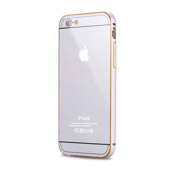 Алюминиевый чехол Dual Hybrid 0.5mm Silver для iPhone 6/6s Plus