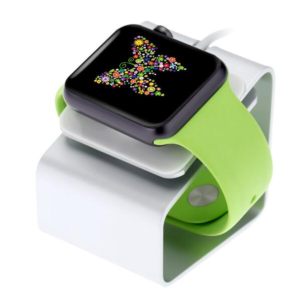 Алюминиевая док-станция iLoungeMax Alloy Bracket Silver для Apple Watch