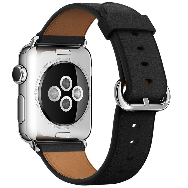 Ремешок Apple 38mm Black Classic Buckle (MMH82) для Apple Watch Series 1/2