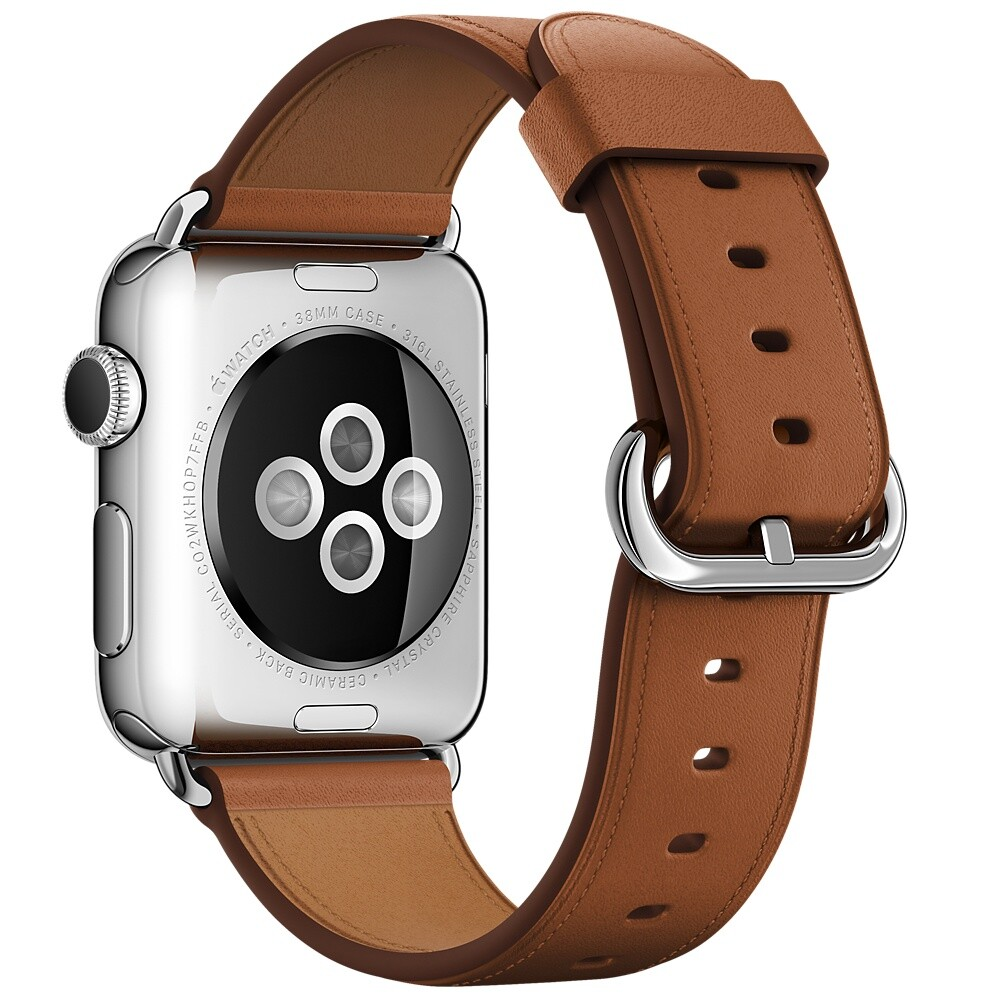 Ремешок Apple 38mm Saddle Brown Classic Buckle (MMH92) для Apple Watch Series 1/2/3
