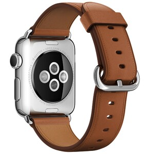 Купить Ремешок Apple 38mm Saddle Brown Classic Buckle (MMH92) для Apple Watch