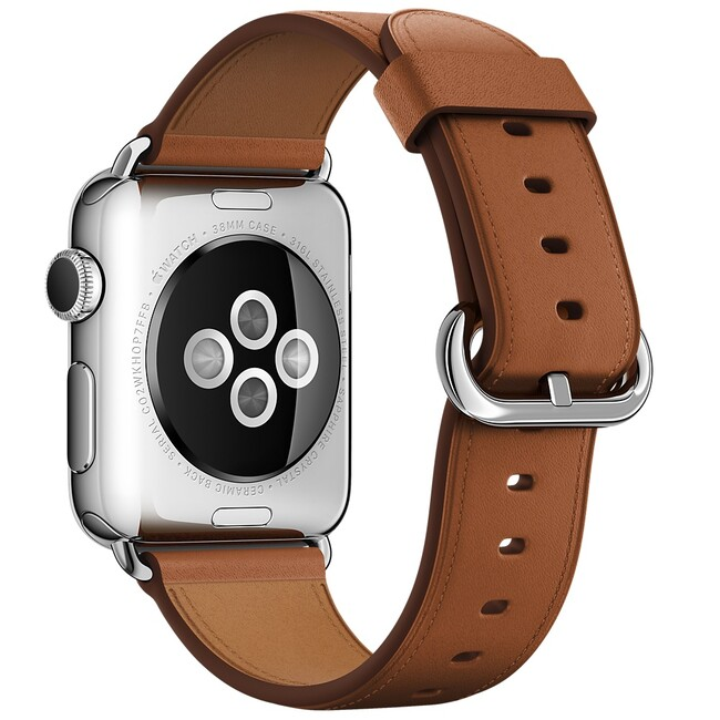 Ремешок Apple 38mm Saddle Brown Classic Buckle (MMH92) для Apple Watch