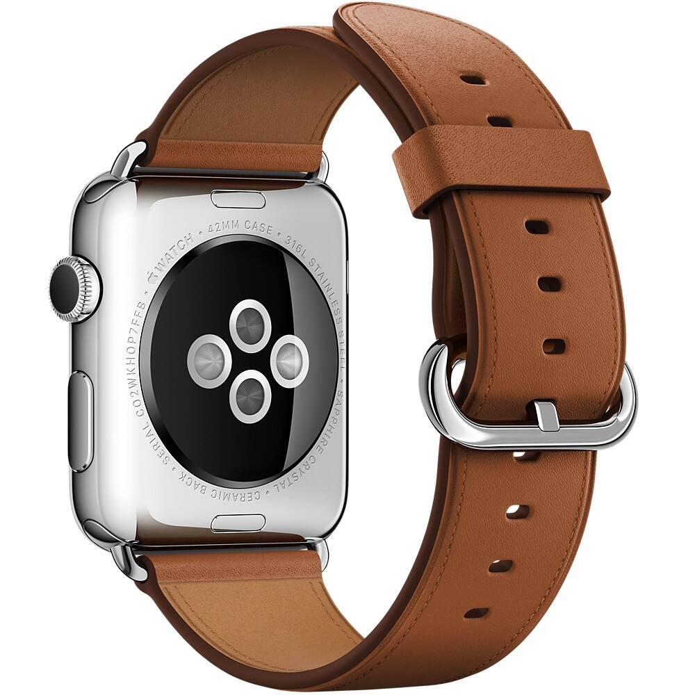 Ремешок Apple 42mm Saddle Brown Classic Buckle (MMHE2) для Apple Watch Series 1/2