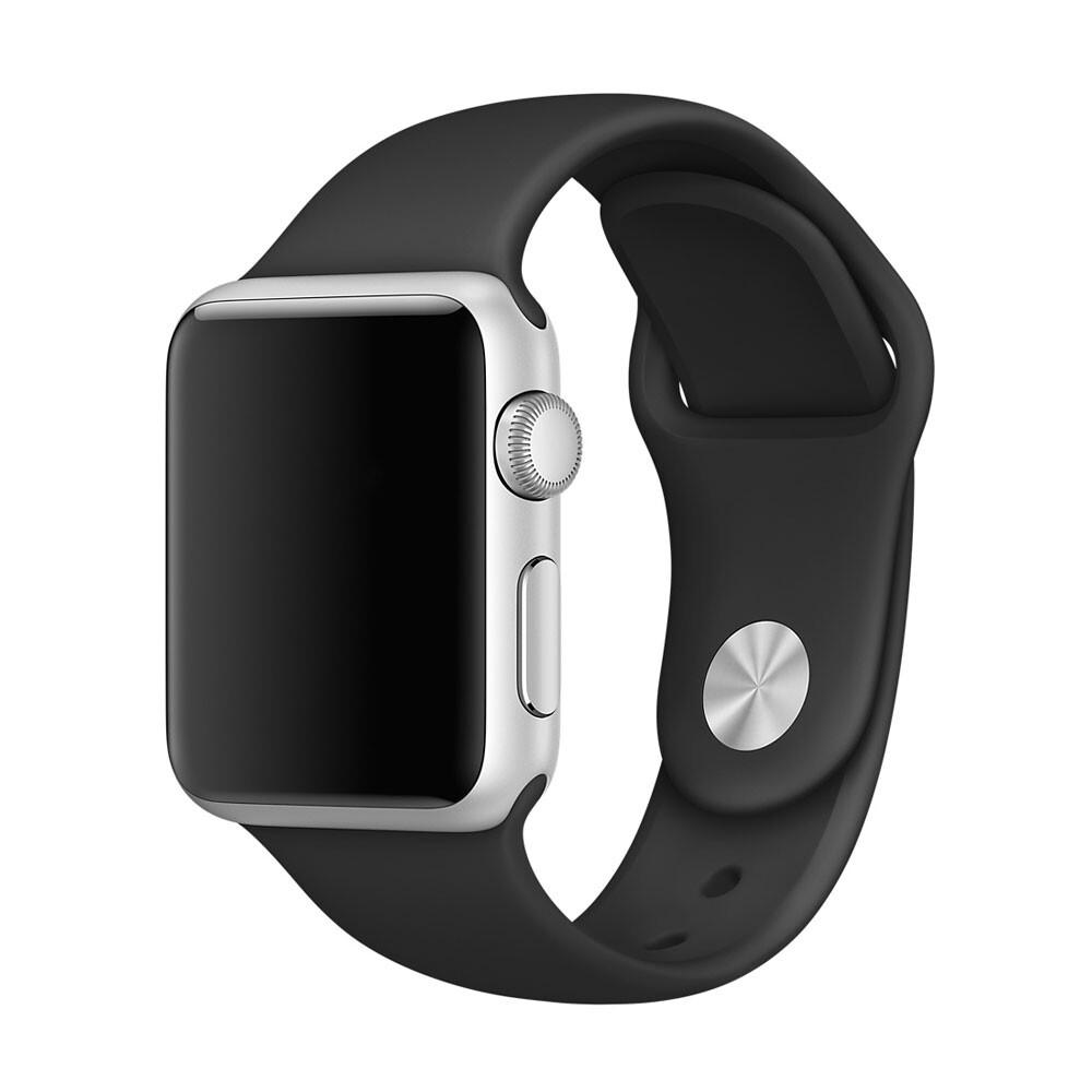 Ремешок Apple 38mm Black Sport Band (MJ4G2) S/M&M/L для Apple Watch Series 1/2/3