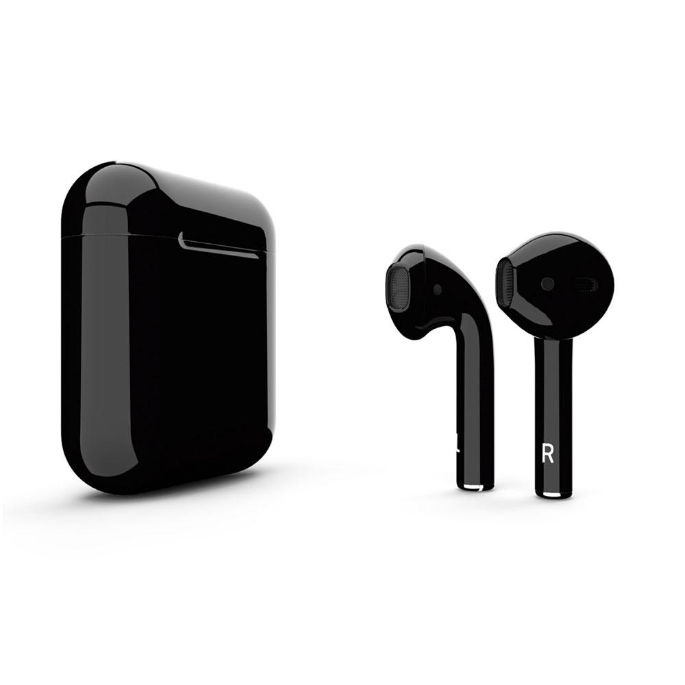 Купить Черные беспроводные наушники Apple AirPods 2 с беспроводной зарядкой Black (MRXJ2)