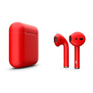 Купить Матовые наушники Apple AirPods 2 с беспроводной зарядкой Aurora Red (MRXJ2)