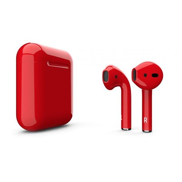 Беспроводные наушники Apple AirPods 2 с беспроводной зарядкой Aurora Red (MRXJ2)