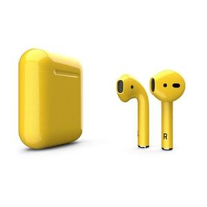 Купить Желтые наушники Apple AirPods 2 с беспроводной зарядкой (MRXJ2)