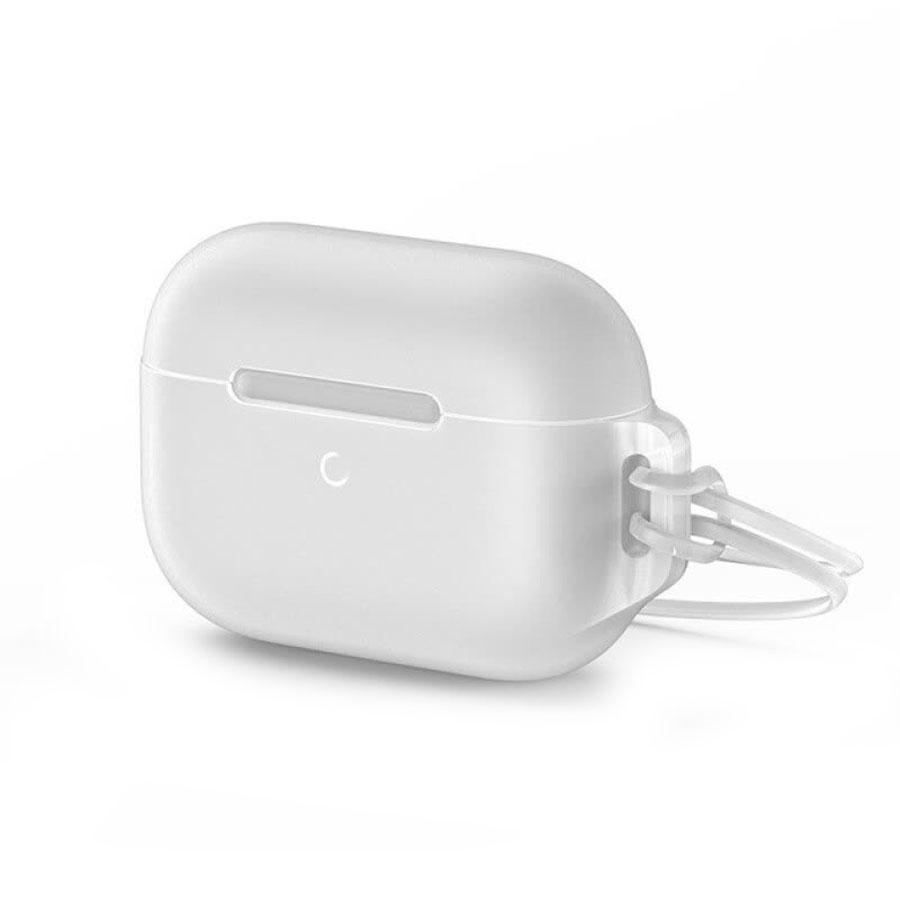 Купить Силиконовый чехол для Apple AirPods Pro Baseus Let's go Jelly Lanyard (с ремешком) White