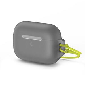 Купить Силиконовый чехол для Apple AirPods Pro Baseus Let's go Jelly Lanyard (с ремешком) Gray