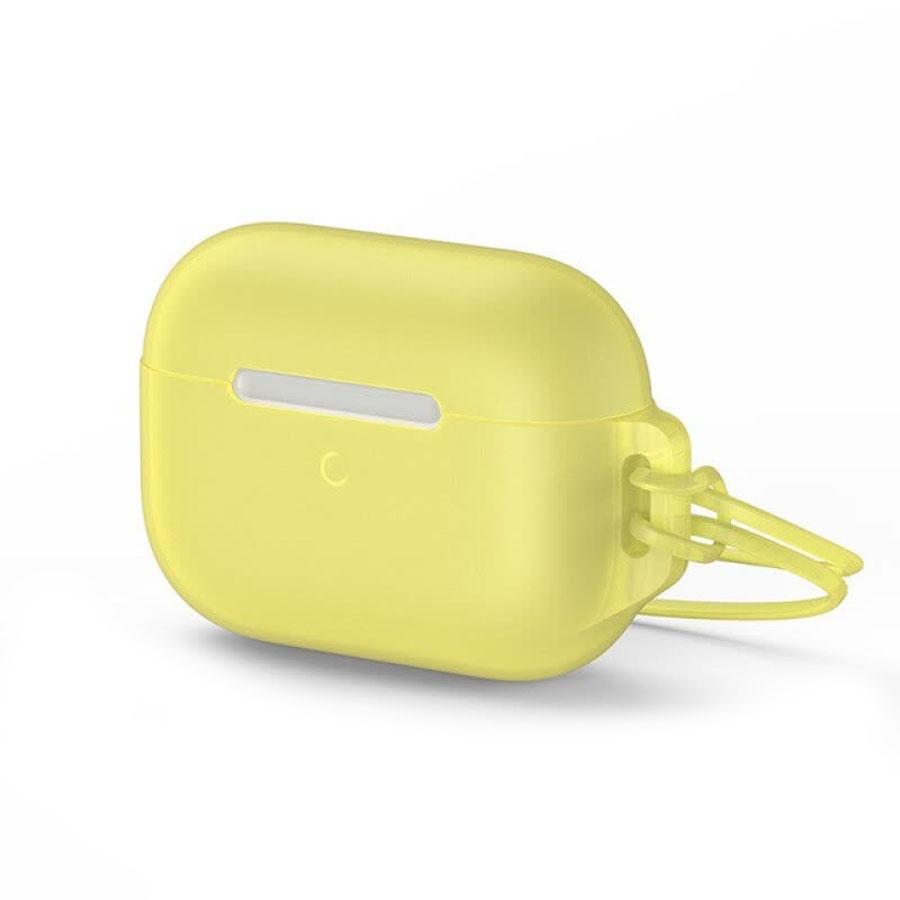 Купить Силиконовый чехол для Apple AirPods Pro Baseus Let's go Jelly Lanyard (с ремешком) Yellow