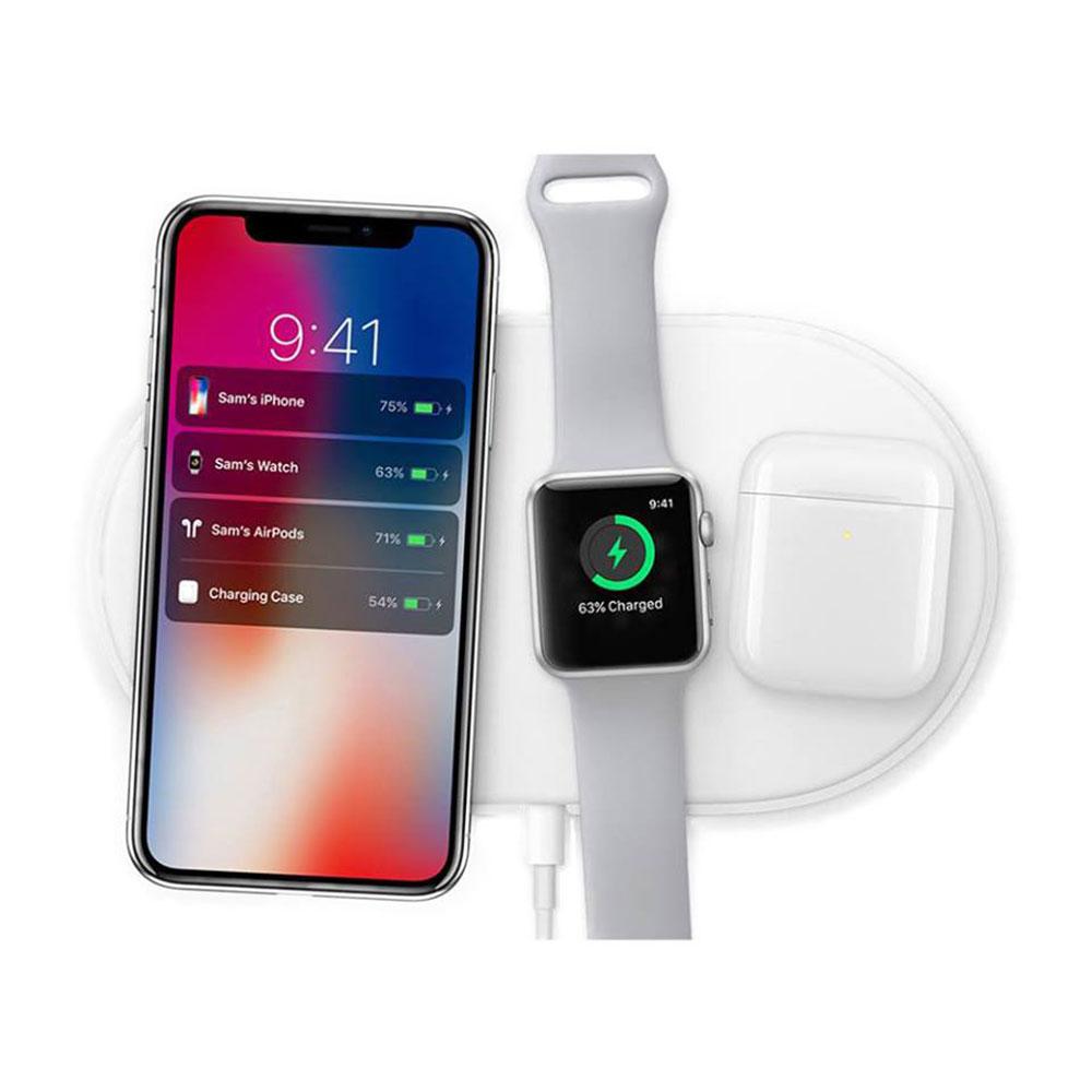 Купить Беспроводная зарядка oneLounge AirPower White для iPhone | Apple Watch | AirPods OEM