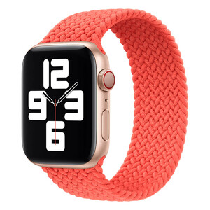 Купить Плетеный монобраслет Apple Braided Solo Loop Electric Orange для Apple Watch 44mm | 42mm (MJK13) Размер 12