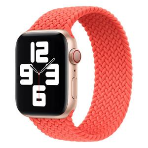 Купить Плетеный монобраслет Apple Braided Solo Loop Electric Orange для Apple Watch 44mm | 42mm (MJK03) Размер 11