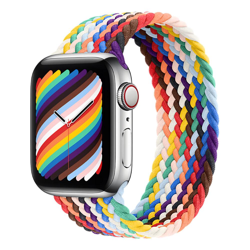 Плетений монобраслет Apple Braided Solo Loop Pride Edition для Apple Watch 41mm   40mm   38mm (MJX73) Розмір 8